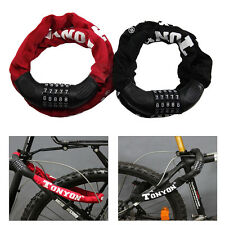 Lock Bicycle Motorcycle Anti-Theft 5 Digit Combination Password Security Chains
