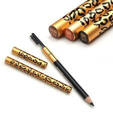 Waterproof Eyebrow Eyeliner Leopard Longlasting Brown Makeup Pencil With Brush