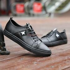 Mens Korean Spring Fashion Sneakers Lace-up Low top Skateboards Casual Shoes #