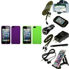 For Apple iPhone 5/5S/SE Snap-On Hard Case Phone Cover Skin Accessory + Bundle