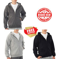 Fruit of the Loom Mens Fleece Full Zip Hood Warm Cotton coat Jacket Outdoor wear