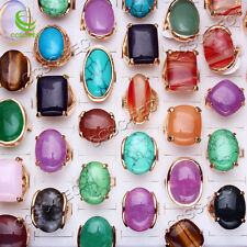 Wholesale Jewerly Lots Vintage Gold Natural gemstone Women Ring Bulk