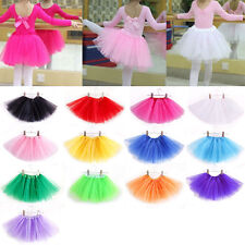 Girls Children Kids Dance Tutu Skirt Pettiskirt Ballet Dress Fancy Costume Skirt