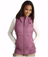 THE NORTH FACE WOMENS HOODED VEST DOWN FILL PURPLE SIZE M L NEW