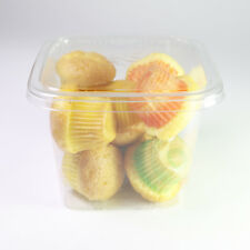 Sqaure Recycled-PET Clear Food Pastry Cookie Storage Plastic Container Lids