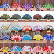 New Spanish Style Dance Wedding Party Lace Silk Folding Hand Held Flower Fan Hot