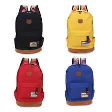 Preppy Style Cat Patchwork Canvas Zipper Buckle Portable School Backpack