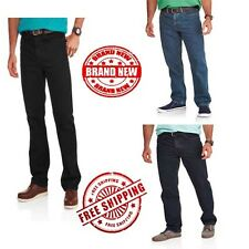 Faded Glory Mens Relaxed Fit Jeans Authentic Straight Leg Outdoor Pants cotton