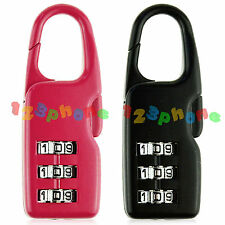 3 DIGIT STEEL LOCK COMBINATION SECURITY LUGGAGE TRAVEL SUITCASE PASSWORD PADLOCK