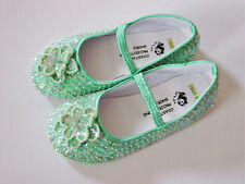 COASTAL PROJECTIONS Custom Mint Green Sequin Girls Shoes Easter 2 4 7 10 12 NWT