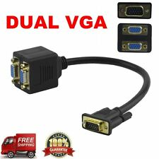 RGB VGA Male to 2 VGA HD 1080P Female Splitter Adapter Extension Cable GT