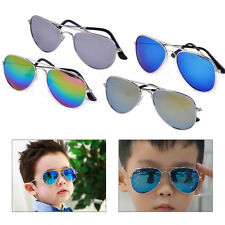 Cool Boy Girl Children Retro Vintage Sunglasses Metal Frame UV400 Protection