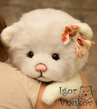 Bear Molly OOAK, Teddy Bear Stuffed Animal Bear Soft Toys Artist Teddy Bears
