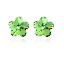 Fashion Flower Shaped Made With Crystal Silver Plated Stud Earring For Women