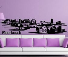 Mural tattoo Meerbusch Skyline XXL Decal Wall Sticker Germany City 1M174
