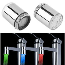 Temperature Sensor LED Light Water Faucet Tap 3 Color RGB Glow Shower