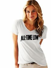 ALL TIME LOW  FRUIT OF THE LOOM LADIES T-SHIRT NEW PRINT BY EPSON XS-XXL