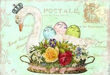 Pink Pearl Studio Swan Roses Collage Quilt Block FrEE ShiPpInG FrEE WoRld WiDE