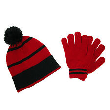 New CTM Kids' Knit Beanie Hat and Gloves Winter Set