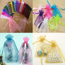50pcs Wedding Favor Jewellery Organza Packing Pouches Candy Bags Gift Bags