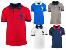 Boys T-Shirt US Polo Top USPA Logo Tee Short Sleeve Cotton Kids 3 to 12 Years
