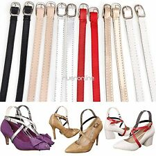 Adjustable PU Leather Shoe Straps Laces Band for Holding Loose High Heeled Shoes