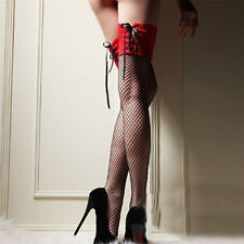 For Ladies Girls Sheer Lace Sexy Stockings Top Thigh High Hosiery Leg Socks