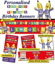Personalised Bananas in Pyjamas Birthday Party Banner Decorations Supplies