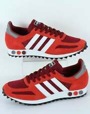 adidas Originals - Adidas LA Trainer OG in Burgundy Red & White - retro classics
