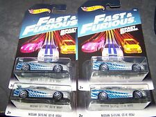 Hot Wheels FAST & FURIOUS 2017 LOT OF 4 CARS NISSAN SKYLINE GT-R (R34) NEW