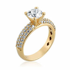Diamond Engagement Ring Certified 0.64CT G Si1 14K Yellow Gold Size 7.5 Enhanced