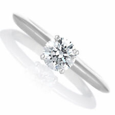 Engagement Ring Diamond 0.52 CT H Si1 Solitaire 14K White Gold Size 5.5 Enhanced