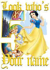 Disney Princess Snow White Personalised Girls T-Shirt Age 5 Ideal Gift/Present