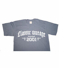 CLASSIC VINTAGE FOUNDED 2001 - Birthday T-shirt gift funny present born in fun