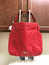 NWT AUTH COACH 33436 CHICAGO GALLERY RED CURRANT HOBO LEATHER CROSSBODY BAG $298