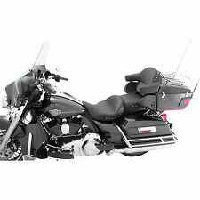 Mustang Motorcycle Products Super Touring Seat 2-up for Harley-Davidson