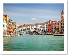 Rialto Bridge Over Grand Canal In Venice Art Print Home Decor Wall Art