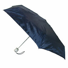 New Totes Micro Sized Travel Solid Color Compact Umbrella