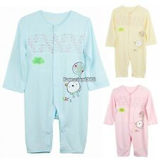 Baby Infant Romper Sleep Jumpsuit Clothing Long Sleeve Coverall 3-12 Month ED01