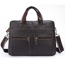 New Genuine Leather Men Briefcase Business Handbag Shoulder Messenger Laptop Bag