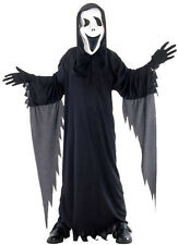 BOYS KIDS HALLOWEEN SCREAM GHOST COSTUME FANCY DRESS OUTFIT & MASK AGE 4-12 NEW