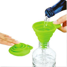 Kitchen Silicone Gel Practical Collapsible Foldable Funnel Hopper Gadget