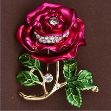 New Arrival Peony Flower Brooches for Women Alloy Enamel Brooch