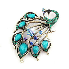 Fashion Jewelry Brooches for Women Fashion Brooch Beautiful Big Peacock Pins