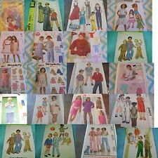 U PICK SEWING PATTERNS CHILD SZ MODERN-VINTAGE BOYS GIRLS TODDLERS + THAN PICS