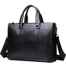 New Business Genuine Leather Men Briefcase Shoulder Handbag Messenger Laptop Bag