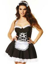 SALE Ann Summers Maid To Pleasure, +/- hold-ups, *NEW* Black/White RRP£30/42