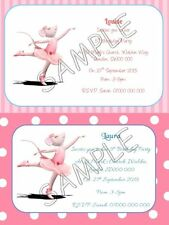 ANGELINA BALLERINA Personalised Party Invitations / Thank You Cards A6 + Env