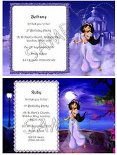 PRINCESS JASMINE Personalised Birthday Party Invitations Thank You Cards A6 +Env