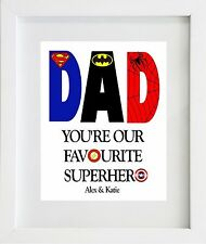 Superhero Fathers Day DAD Gift Present Mounted Print Card #1